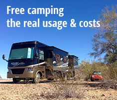 Boondocking Recap: Usage and Costs