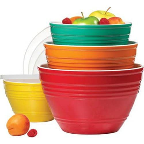 4 Piece Melamine Bowl Set With Lids 4 Sizes Rv Love