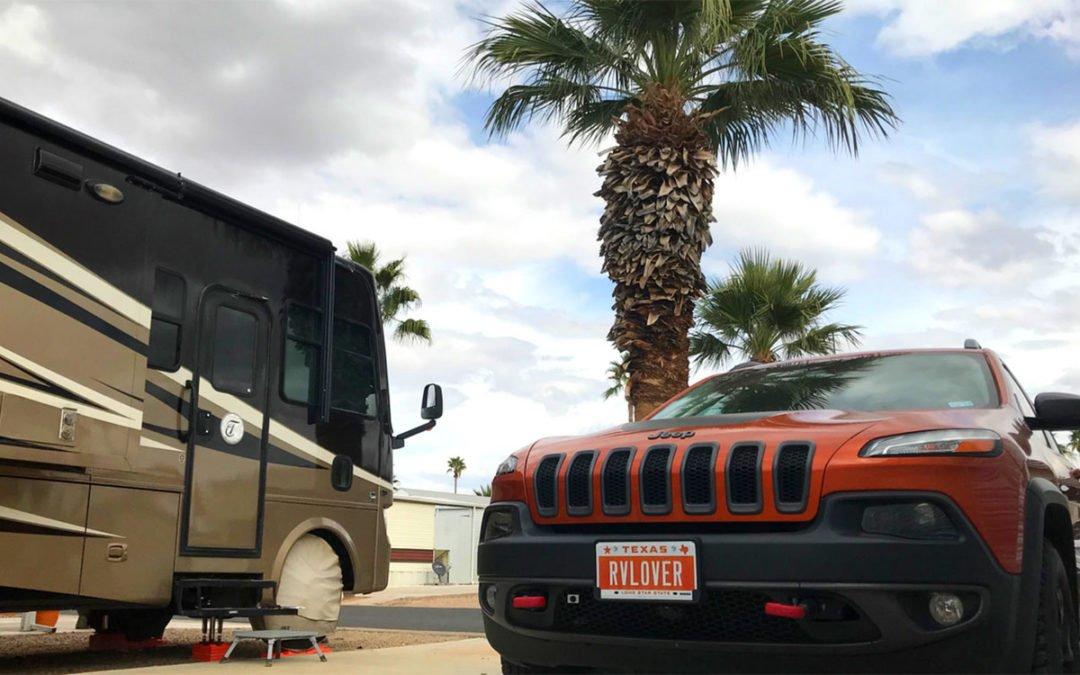 We Named our Jeep! And Got New Personalized Plates for our RV & TOAD