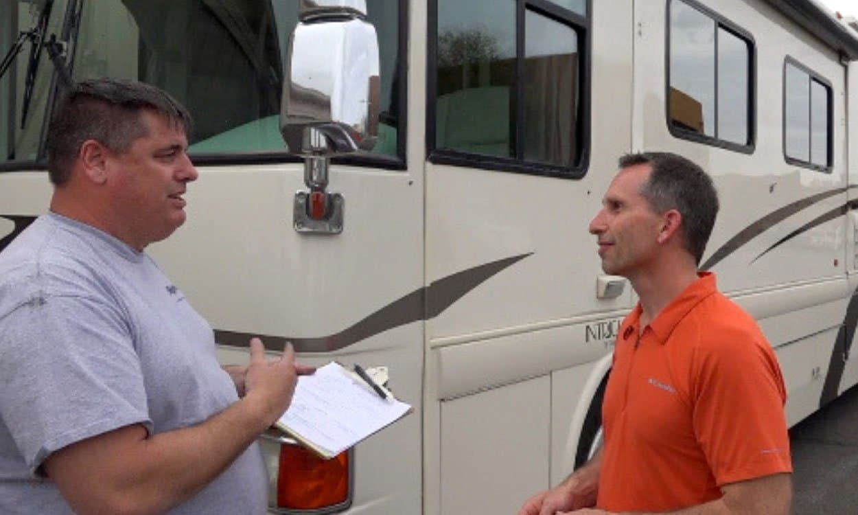Getting a Professional RV Inspection Before Buying + Our