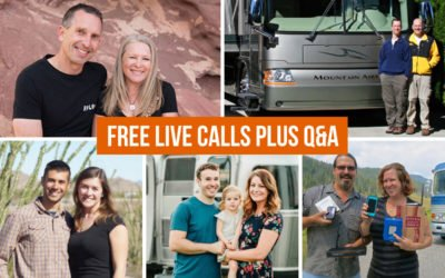Video Replays: Live Calls + Q&A with The RV Geeks, Mortons on the Move, Less Junk > More Journey & Technomadia