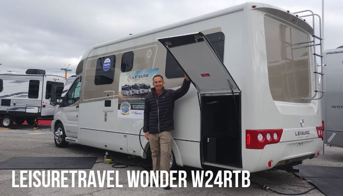 b5274db2ca The LeisureTravel Wonder W24RTB is a wide body Class B + motorhome on a Ford  Transit chassis