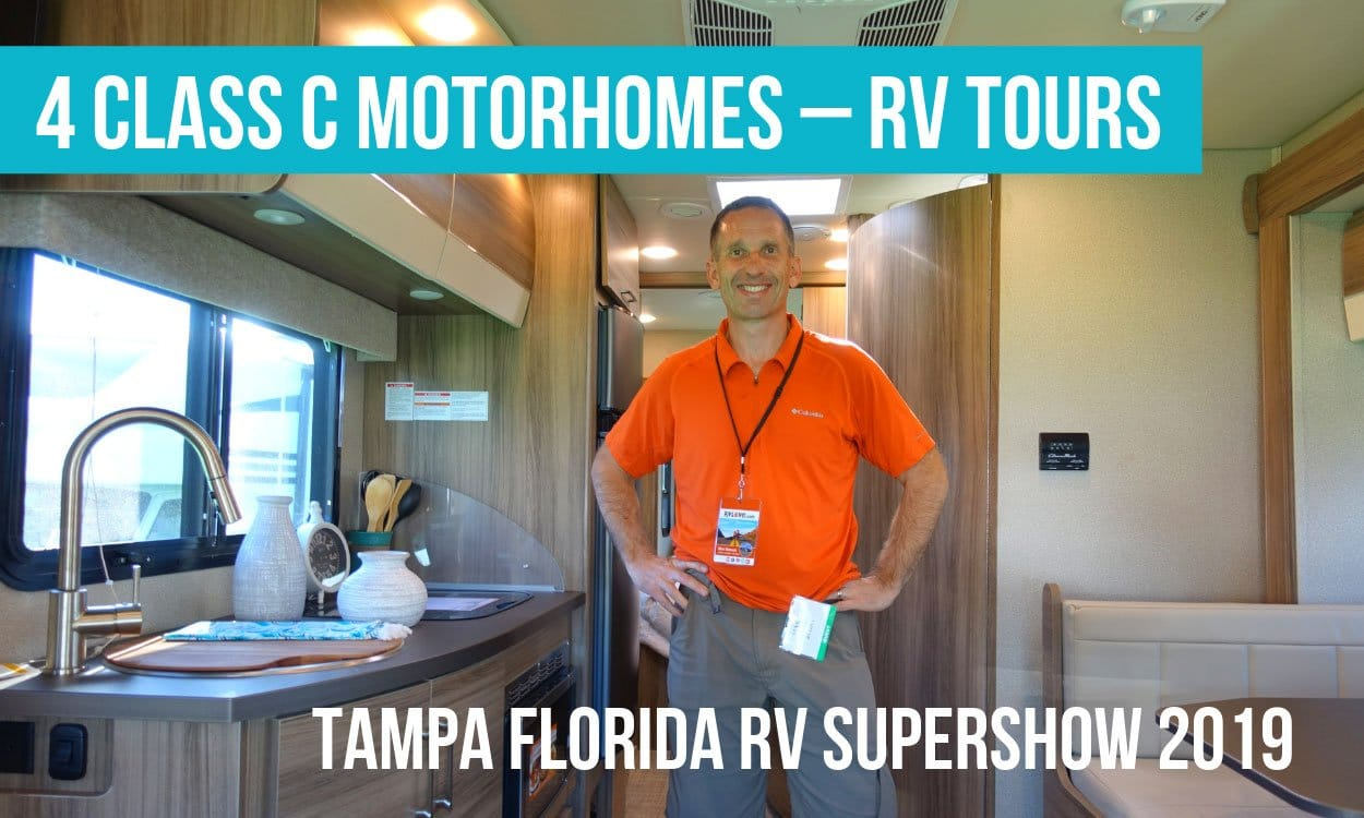 RV Tours of 4 Class C Motorhomes – Winnebago, Tiffin, Entegra