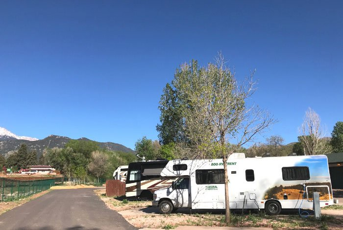 RV Rental in campsite in Colorado Springs