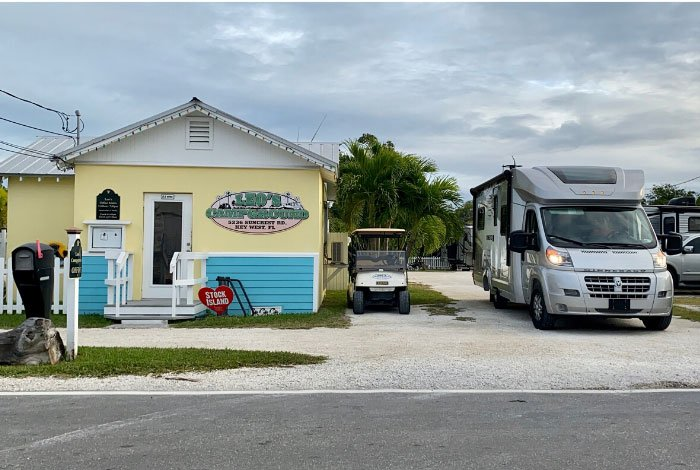 Leo's campground in key west with RV rental