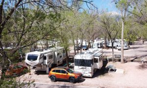 Garden of the Gods rv site with cc and blaze