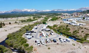 arial view of middlefork rv park in fairplay co