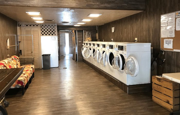 laundry room at Garden of the Gods RV Resort