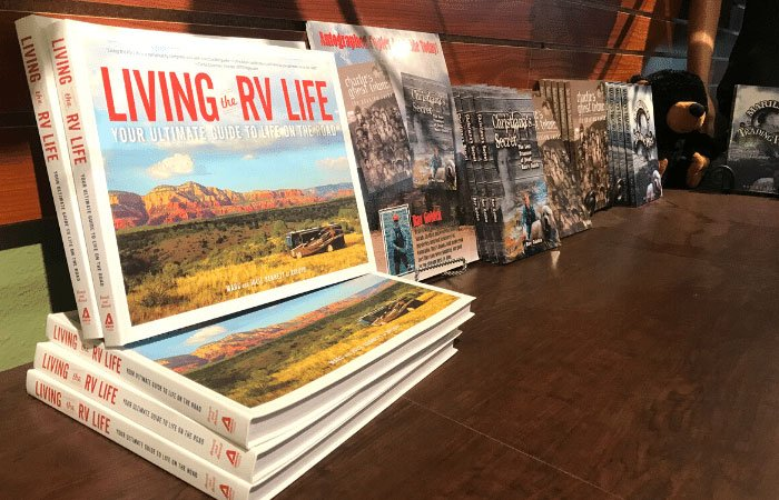 living the rv life books at garden of the gods store