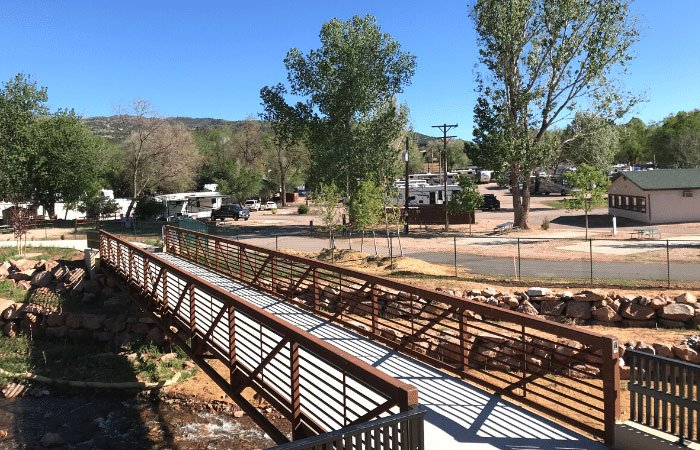 pedestrian bridge near Garden of the Gods RV Resort